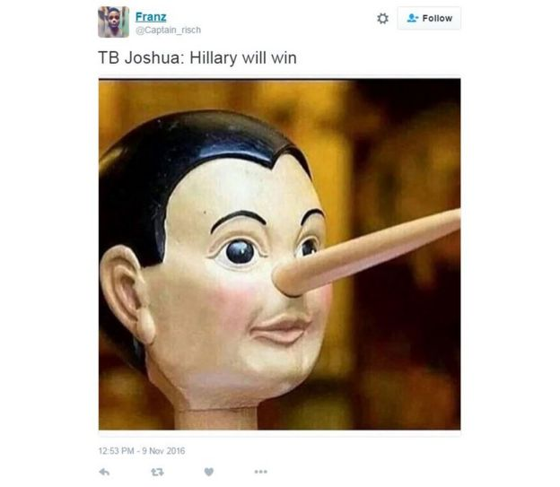 Meme showing Pinocchio and the words: