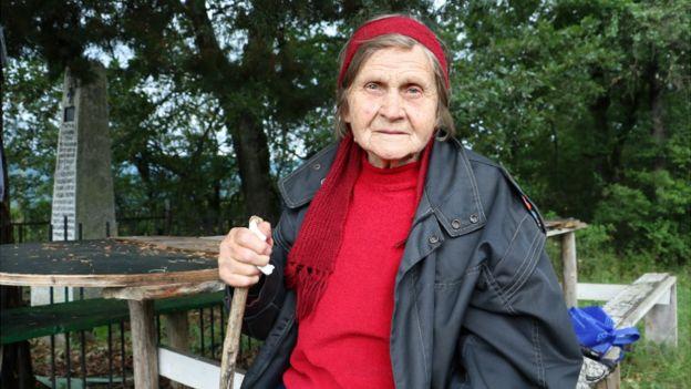 Granny Stanka, a villager from Smirov Dol