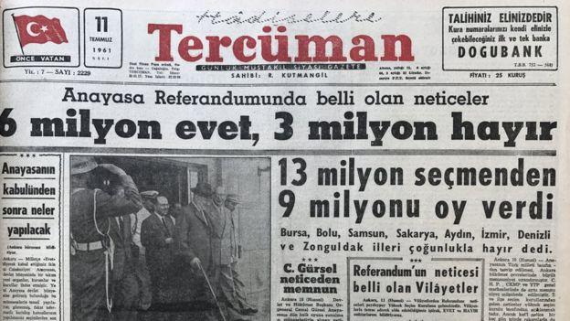 11 Temmuz tarihli Tercüman gazetesi: 6 milyon evet, 3 milyon hayır