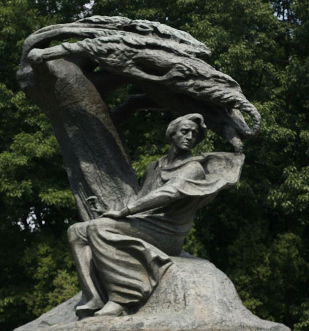 Monumento de Chopin en Varsovia