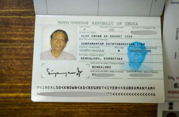 Mr Iyer's passport