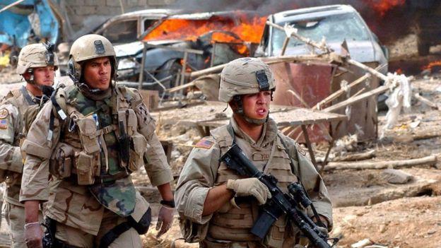 американские военные в Талль-Афаре в 2003 году