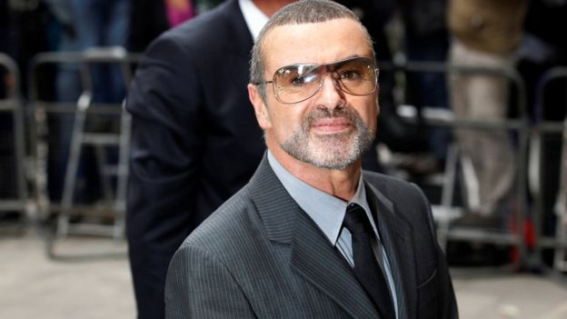George Michael outside Highbury Magistrates Court in 2010