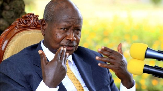 President Yoweri Museveni pictured at his country home