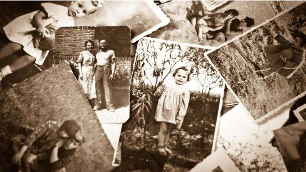 Un grupo de fotografías en sepia