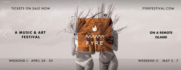 Promo del Fyre Festival.