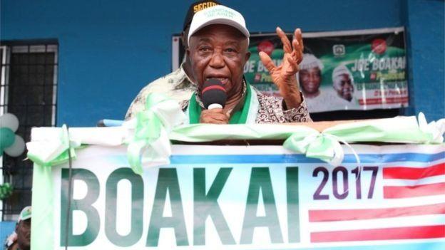 Le vice-président Joseph Boakai brigue les suffrages de ses concitoyens