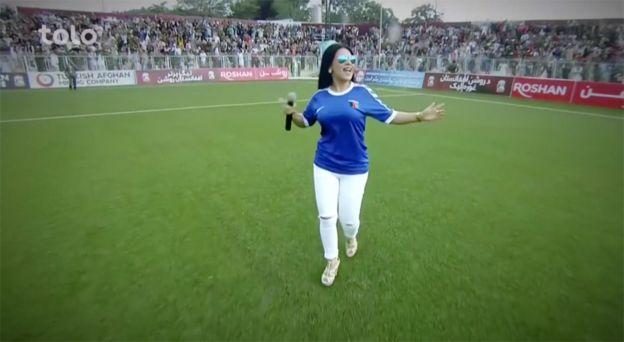 Aryana Sayeed during the football stadium concert
