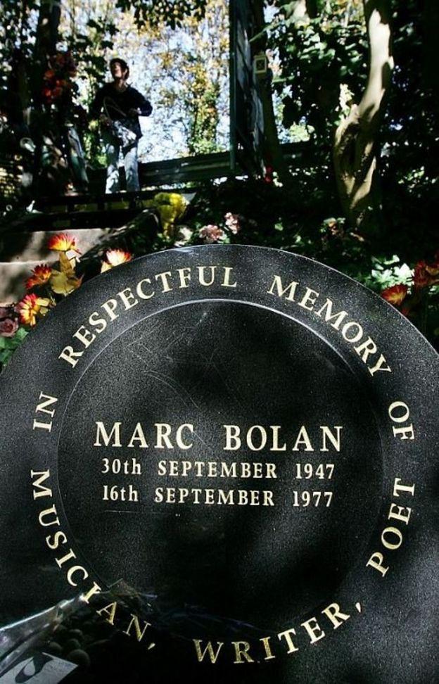 Мемориальная доска памяти Марка Болана на месте его гибели