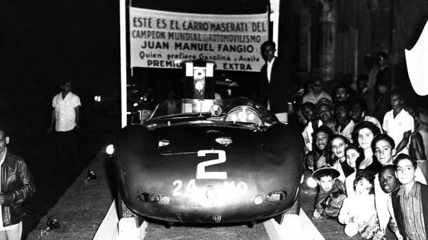 Auto de Fangio en Cuba