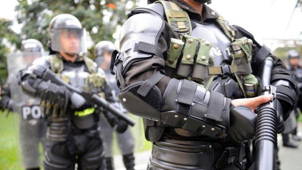 Miembros del Escuadrón Móvil Antidisturbios (ESMAD) de la policía, imagen de archivo (Foto: Raúl Arboleda/ AFP)
