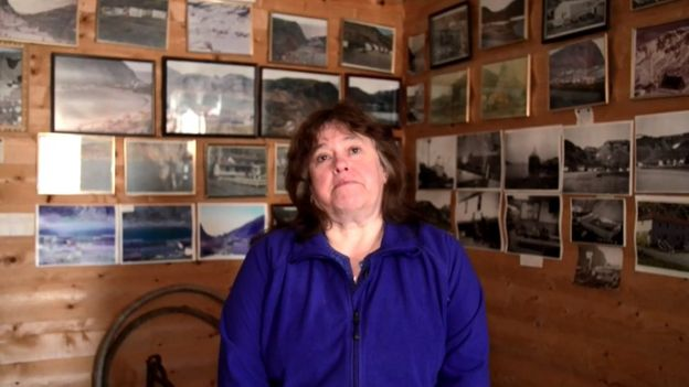 Margaret Collins en el museo