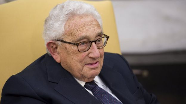 Former Secretary of State Henry Kissinger in the Oval Office