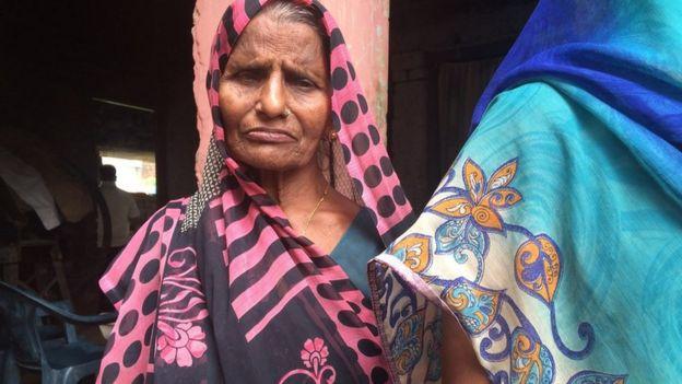 A photo of Mr Yadav's mother, Rajeshwari Yadav