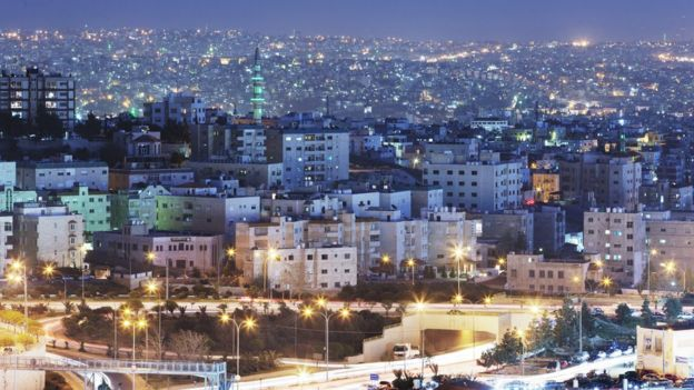 A general view of the city of Amman at twilight on March 26, 2013 in Amman, Jordan.