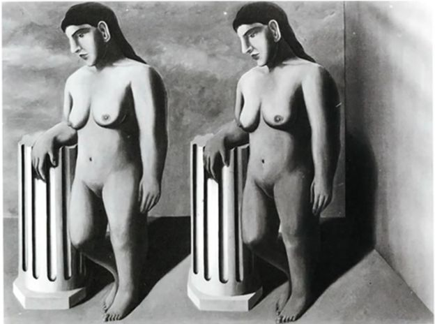 La Pose Enchantée by Rene Magritte