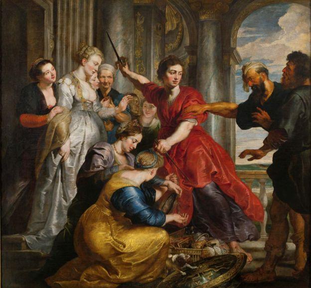 Aquiles descubierto por Ulises y Diómedes, Pedro Pablo Rubens, 1617 - 1618