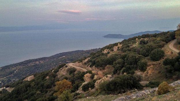 منظر خلاب من فوق جزيرة ليسبوس