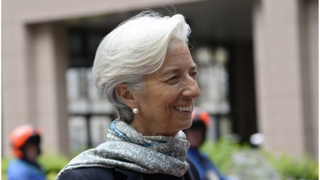 Christine Lagarde, head of the IMF