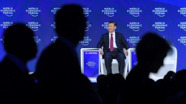 Xi Jinping em Davos.