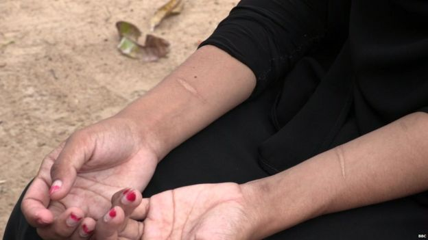 Shafa's hands