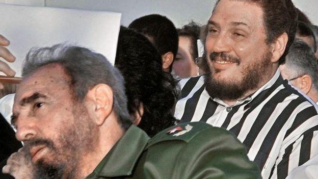 Fidel Castro y su hijo