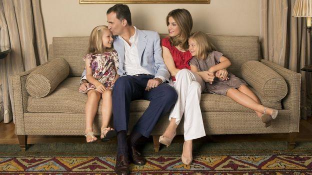 La familia real de España