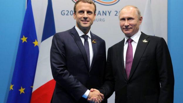 Президент Макрон уже встречался и с Путиным, и с Трампом