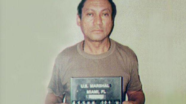 Foto del prontuario de Manuel Antonio Noriega en Miami