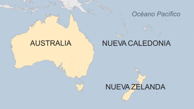 Ubicación de Nueva Caledonia