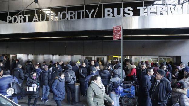 Port Authority Station in Manhattan.