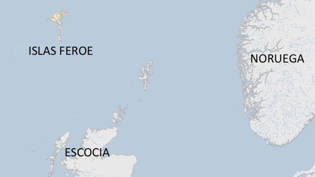 Mapa islas Feroe