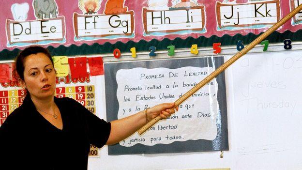 Educación bilingüe en una escuela de EE.UU.