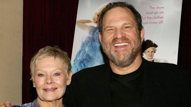 Dame Judi Dench with Harvey Weinstein in 2005