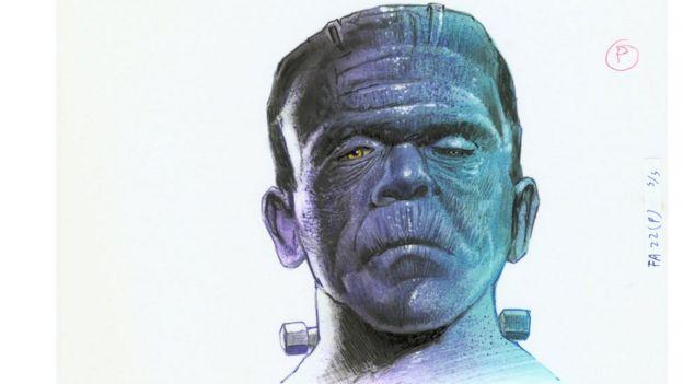 Dibujo del monstruo de Frankenstein.