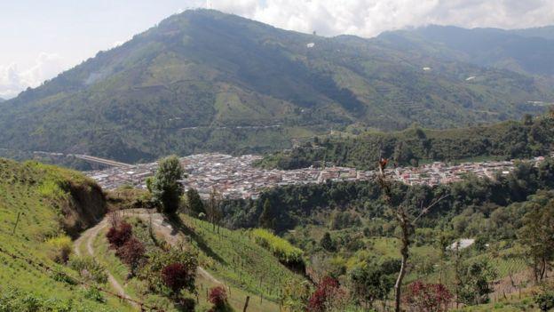 Casco urbano de Cajamarca.