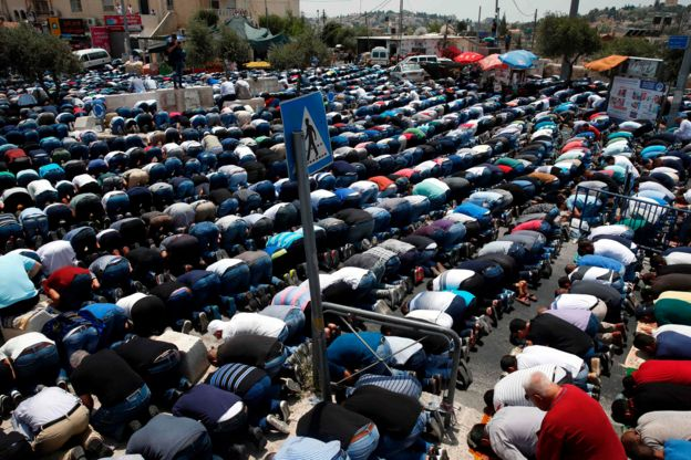 نیروهای امنیتی اسرائیل با تظاهرکنندگان فلسطینی درگیر شدند