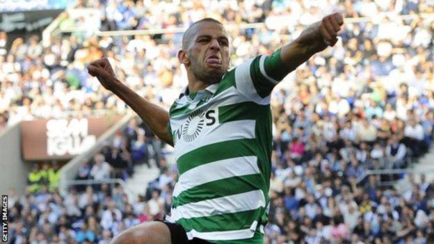 Islam Slimani alipokuwa Sporting Lisbon