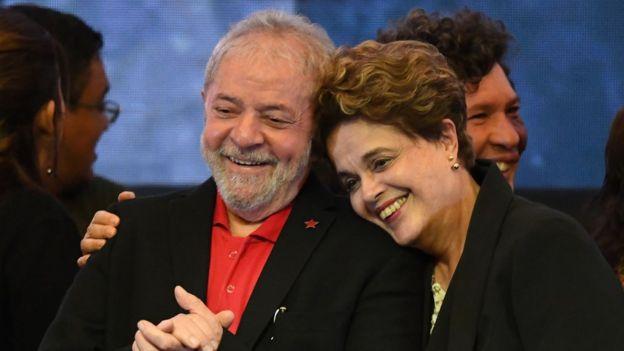 Luiz Inacio Lula y Dilma Rousseff