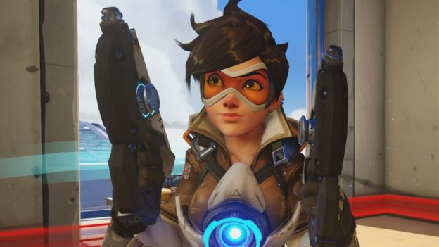 Tracer - a character in Overwatch