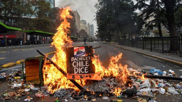 Protestas contra Bachelet