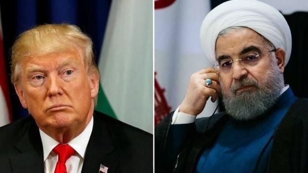 Rais Donald Trump na rais Rouhani wa Iran