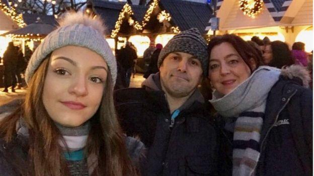Emiah and her parents Simon Ellis and Menna Garland-Ellis