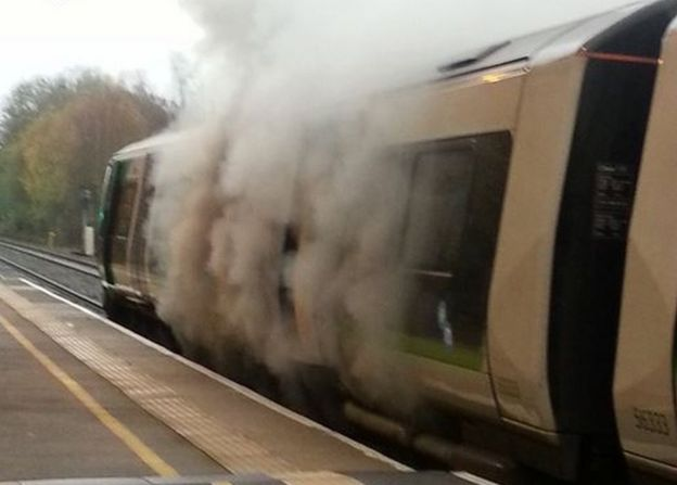 Train fire at Lapworth