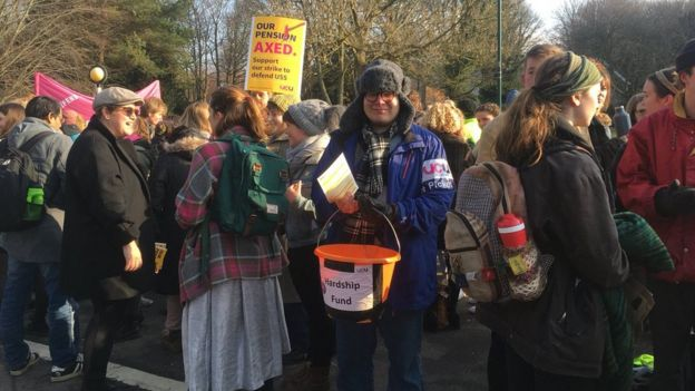 strikers at the University of Sussex