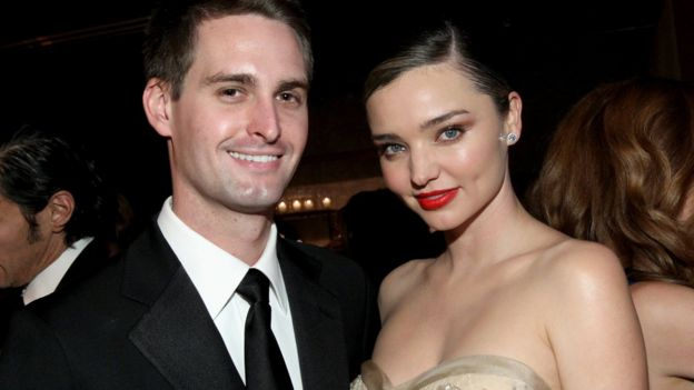 Evan Spiegel and Miranda Kerr