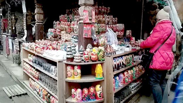 Pasar Izmailovo di Moskow