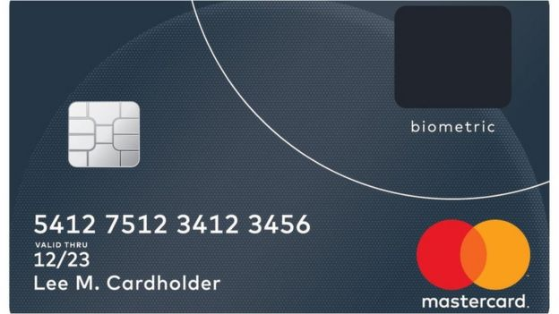 Graphic image of the biometric Mastercard