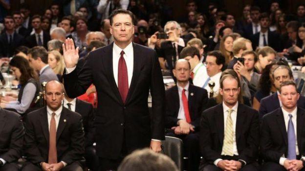 Ông Comey tại buổi điều trần ở Thượng viện Mỹ