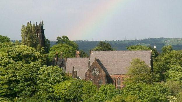 La iglesia de San Pedro de Wolton, en Liverpool, Inglaterra.